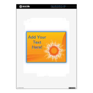 Curly Sunshine Customizable Design iPad 2 Decal