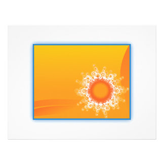 Curly Sunshine Customizable Design Letterhead Template