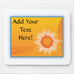 Curly Sunshine Customizable Design mousepads