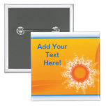 Curly Sunshine Customizable Design buttons