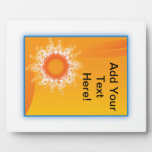 Curly Sunshine Customizable Design plaques