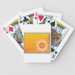 Curly Sunshine Customizable Design playing cards