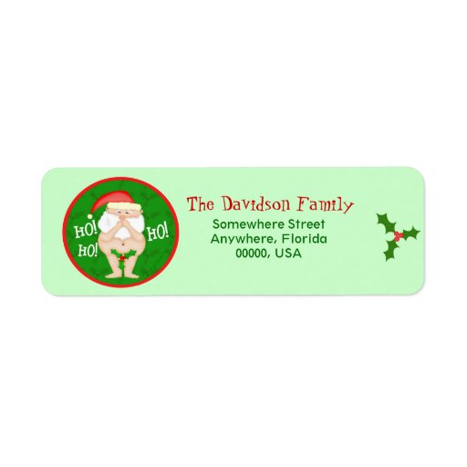 Holiday Address Avery Label 5160 Template