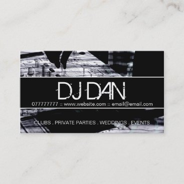 Custom DJ Business Cards