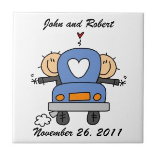 Custom Gay Wedding Tile Gift