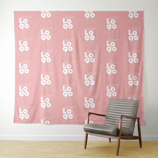 Custom Logo Step Repeat Pink Photo Booth Backdrop
