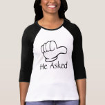 Custom matching couple Pointed hand T-Shirt