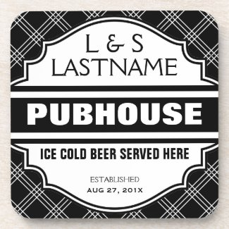 Custom Pubhouse Home Bar Beer Sign Beverage Coaster