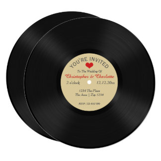 Custom Record Al Novelty Wedding Card