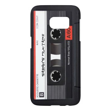 Custom Retro Cassette Tape Samsung Galaxy S7 Case
