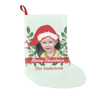 Custom Santa Hat to Personalize Small Christmas Stocking