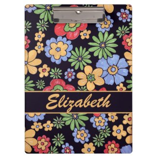 Custom Vivid Colorful Flowers to Personalize Clipboards