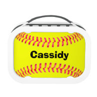 Custom Yubo Softball Lunch Box