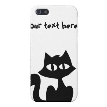Customizable Black Cat Silhouette Case For iPhone SE/5/5s