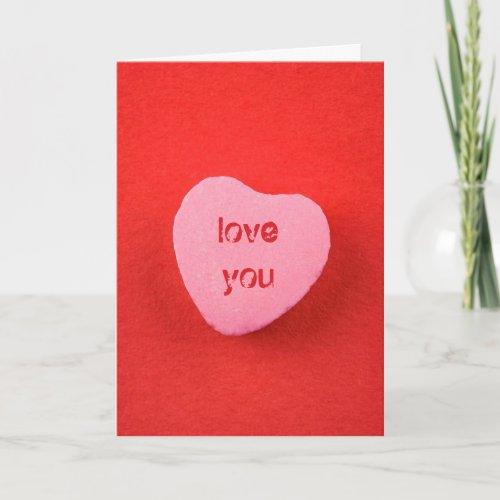Customizable Candy Heart Card
