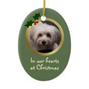 Customizable Christmas Dog Memorial Ornament ornament
