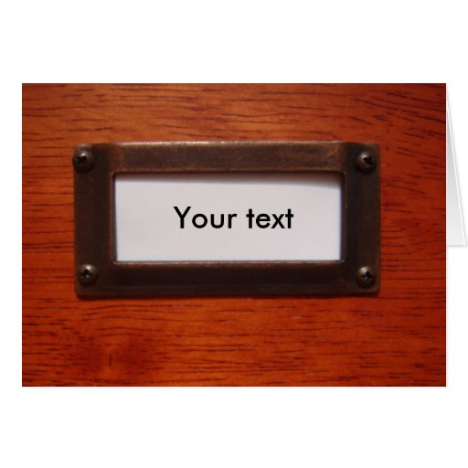 Customizable file cabinet label card  Zazzle