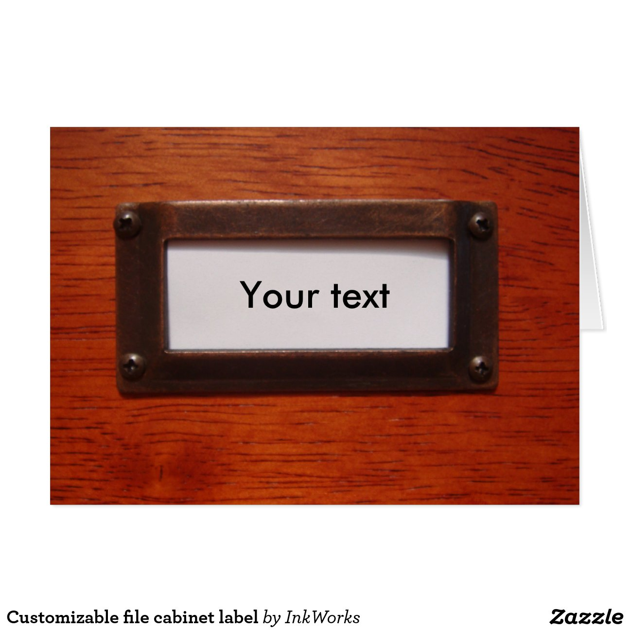 customizable_file_cabinet_label_greeting_card