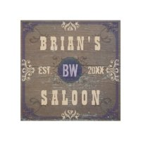 Customizable Home Bar Beer Saloon Wood Wall Art | Zazzle