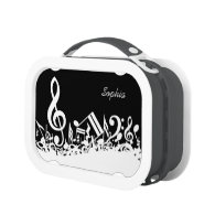 Customizable Musical Notes Yubo Lunch Boxes