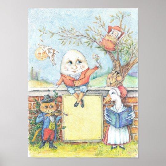 Customizable Nursery Rhyme poster  Zazzlecom
