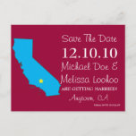 Customizable Save the Date State - CALIFORNIA Announcement Postcard