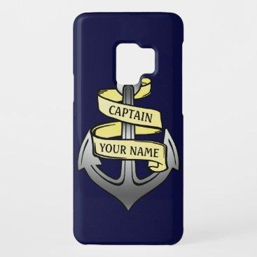 Customizable Ship Captain Your Name Anchor Case-Mate Samsung Galaxy S9 Case