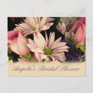 Customize bridal shower flower postcard postcard