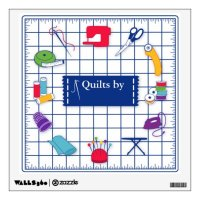 Customize the Label Quilt Time Wall Decal | Zazzle.com