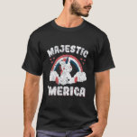 ❤️ Cute 4th of July  Majestic Merica Unicorn Lover T-Shirt