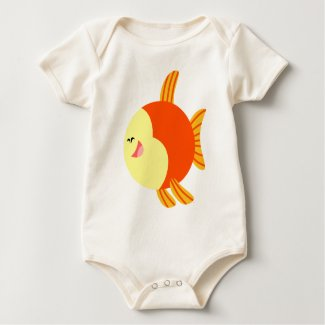 Cute and Plump Cartoon Fish Baby T-Shirt shirt