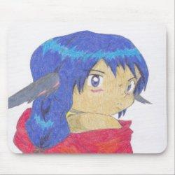 werewolf anime cute mousepad gifts