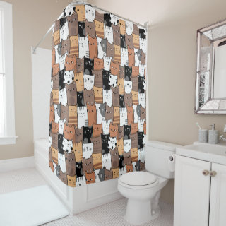 Cute baby cats pattern Shower Curtain