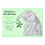 Cute Baby Elephant Birthday Party Invitation