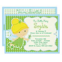 Cute, Baby Fairy Birthday Party Invitations