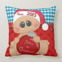 Baby First Christmas Pillows - Decorative & Throw Pillows ...