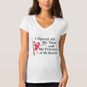 Cute Ballet Barre Funny Ballerina Dancer Tee Shirt