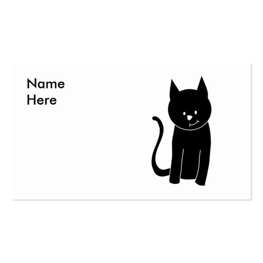 Cute Black Cat Double-Sided Standard Business Cards (Pack