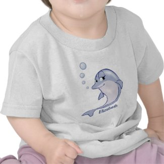 Cute Blue Dolphin To Personalize Shirt