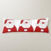 Cute Blushing Santa Body Pillow | Zazzle