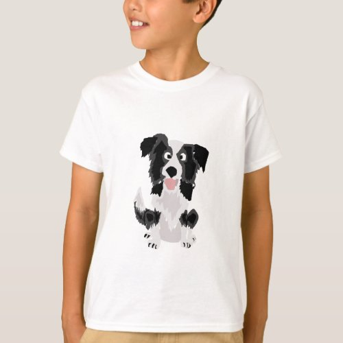 Cute Border Collie Original Art T-Shirt
