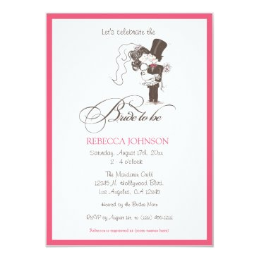 "Cute ""Bride to be"" Bridal Shower Invitations"