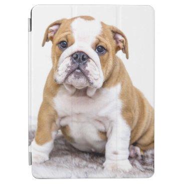 Cute Bulldog Puppy Sitting Down iPad Air Cover