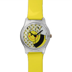 Cute Bumble Bee Pattern Wristwatches
