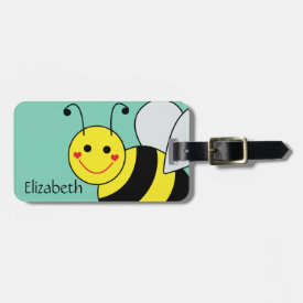 Cute Bumble Bee Personalized Bag Tag