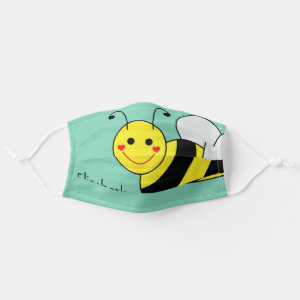 Cute Bumble Bee Personalized Cloth Face Mask