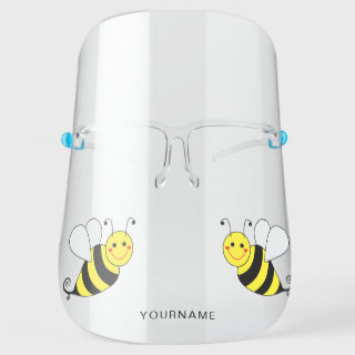 Cute Bumble Bee Personalized Face Shield