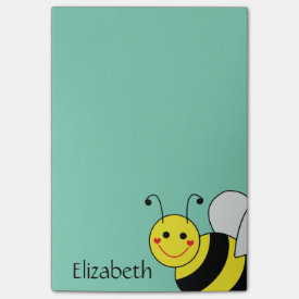 Cute Bumble Bee Personalized Post-it® Notes