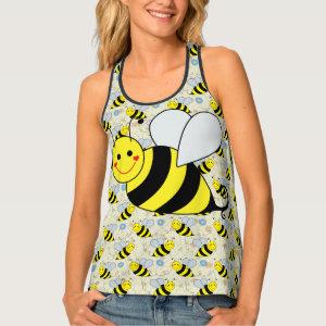 Cute Bumble Bee Tank Top