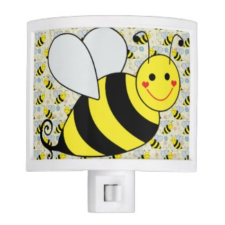 Cute Bumble Bee with Pattern Night Lights